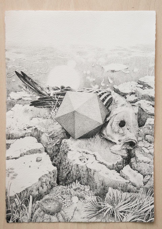 Geometría empática. Tinta sobre papel 30 x 21 cm