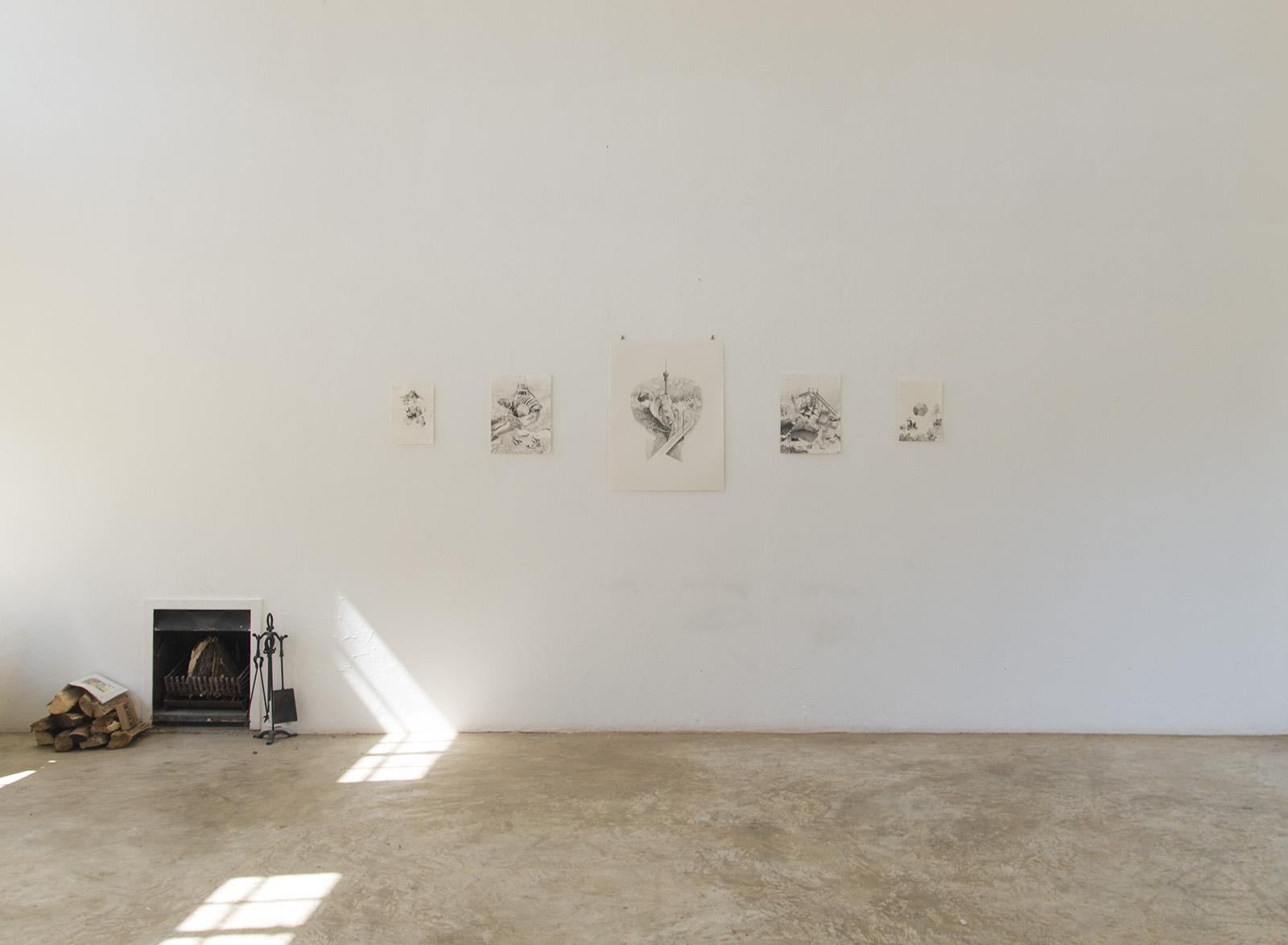 Vista del estudio en Nirox Arts